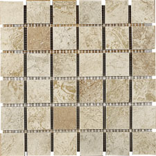 Keramia Tile - Palmira 12x12 Mosaico Multicolor Extruded Glazed Porcelain Tile