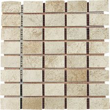 Keramia Tile - Palmira 12x12 Mosaico Rectangulo Extruded Glazed Porcelain Tile