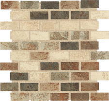 Keramia Tile - Tibet Series 12x12 Brick Mosaic Extruded Glazed Porcelain Tile